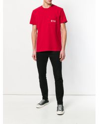 RTA - Red Printed Patch Pocket T-shirt for Men - Lyst