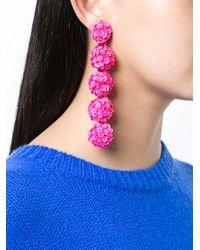 Sachin & Babi - Pink Fleur Bouquet Earrings - Lyst