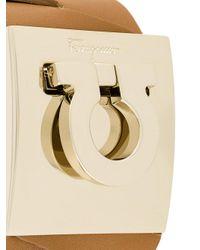 Ferragamo - Brown Horseshoe Motif Bracelet - Lyst