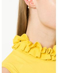 De La Forge - Metallic Saturn Earring - Lyst