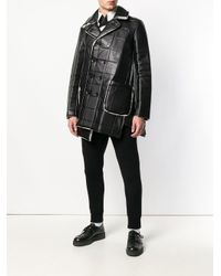Comme des Garçons - Black Asymmetric Square-embossed Jacket for Men - Lyst