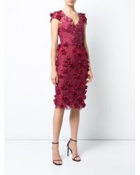 Notte by Marchesa - Embroidered Lace Dress - Lyst