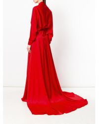Francesco Paolo Salerno - Red Wrap Style Gown - Lyst