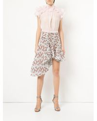 Giambattista Valli - Blue Asymmetrical Skirt - Lyst