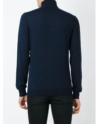 Paolo Pecora - Blue Roll Neck Sweater for Men - Lyst