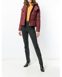 Peuterey - Red Hooded Down Jacket - Lyst