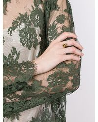 Delfina Delettrez - Metallic 'to Be Or Not To Be' Ring - Lyst