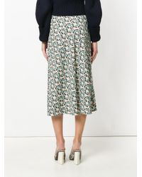 Marni - Multicolor Flower Print A-line Skirt - Lyst