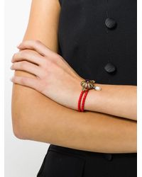 Alexander McQueen - Red Jewel Charm Nappa Bracelet - Lyst