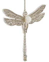 Axenoff Jewellery - Metallic Drop Dragonfly Earrings - Lyst
