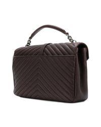 Saint Laurent - Brown College Monogramme Shoulder Bag Black Tulip - Lyst