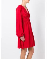 Giambattista Valli - Red V Neck Circle Dress - Lyst