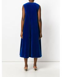 Maison Rabih Kayrouz - Blue Flared Midi Dress - Lyst