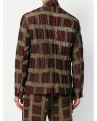 Uma Wang - Brown Geometric Pattern Blazer for Men - Lyst