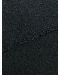 Rick Owens - Gray Frayed Scarf for Men - Lyst