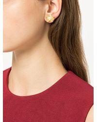 Meadowlark - Metallic Medium Coral Pearl Earrings - Lyst