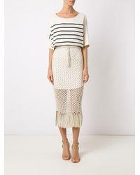 Osklen - Multicolor Knitted Midi Skirt - Lyst