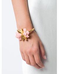 Oscar de la Renta | Multicolor Bold Petal Bracelet | Lyst