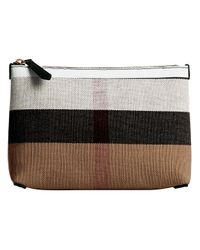 Burberry - Multicolor Medium Check Zip Pouch - Lyst