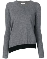 Sonia Rykiel - Gray Asymmetrical Sweater - Lyst