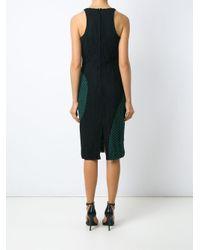 Martha Medeiros Black Lace Midi Dress