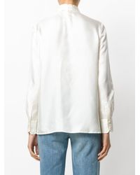 Tory Burch - White Harriet Fine-knit Cotton-blend Vest - Lyst