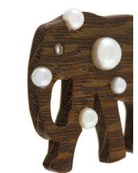 Marc Alary - Brown Polka Dot Elephant Pendant - Lyst