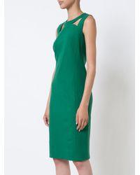 Akris Punto - Green Cut-out Chest Detail Dress - Lyst