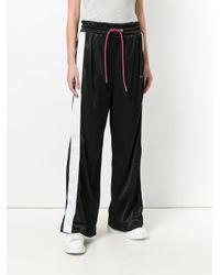DIESEL - Black Wide-leg Track Pants - Lyst
