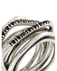 Iosselliani - Metallic 'heritage' Ring Set - Lyst
