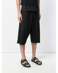 Lost and Found Rooms Black Vintage Shorts for men