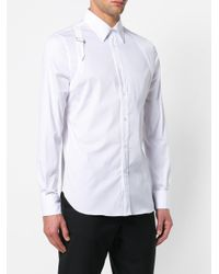 newest collection be827 59535 alexander-mcqueen-White-Shoulder-Strap-Slim-Fit-Shirt.jpeg
