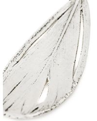 Aurelie Bidermann - Metallic 'swan' Feather Earrings - Lyst