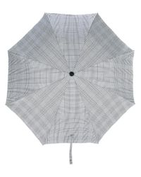 Alexander McQueen - Black Plaid Umbrella - Lyst