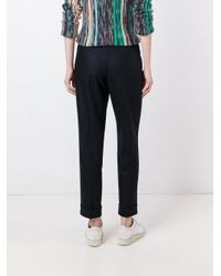 Boglioli - Black Tailored Cropped Trousers - Lyst