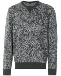 Ermenegildo Zegna - Gray Long Sleeve Intarsia Jumper for Men - Lyst