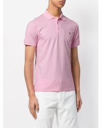 Polo Ralph Lauren - Pink Slim-fit Polo Shirt for Men - Lyst