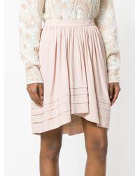 Chloé - Pink Flared Asymmetric Skirt - Lyst