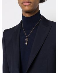 Alexander McQueen - Black Pearl Pendant Necklace for Men - Lyst