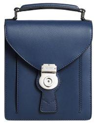 Burberry - Blue Small Dk88 Satchel for Men - Lyst