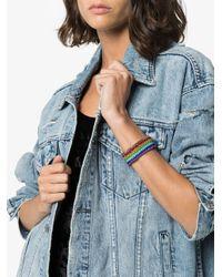 Venessa Arizaga - Multicolor Silver-plated Rainbow Thread Bracelet - Lyst