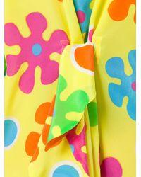 Moschino - Yellow Flower Power Dress - Lyst