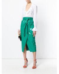 Philosophy Di Lorenzo Serafini - Green Wrap Skirt - Lyst