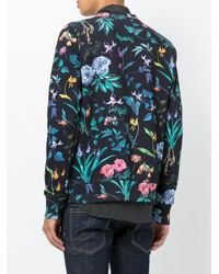 PS by Paul Smith - Blue Floral Print Sweatshirt for Men - Lyst