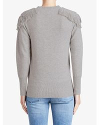 Burberry - Gray Fringed Shoulder Blend - Lyst