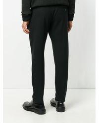 Stephan Schneider Black Slim-fit Track Pants for men