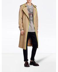 Burberry - Natural Tape Detail Gabardine Trench Coat for Men - Lyst
