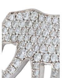 Marc Alary | Metallic 'elephant' Diamond Charm Pendant | Lyst