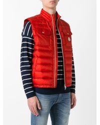 Lyst - Doudoune sans manches Achille Moncler pour homme en coloris Rouge 793394fd6ff