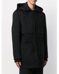 Ermenegildo Zegna Black Single-breasted Coat for men